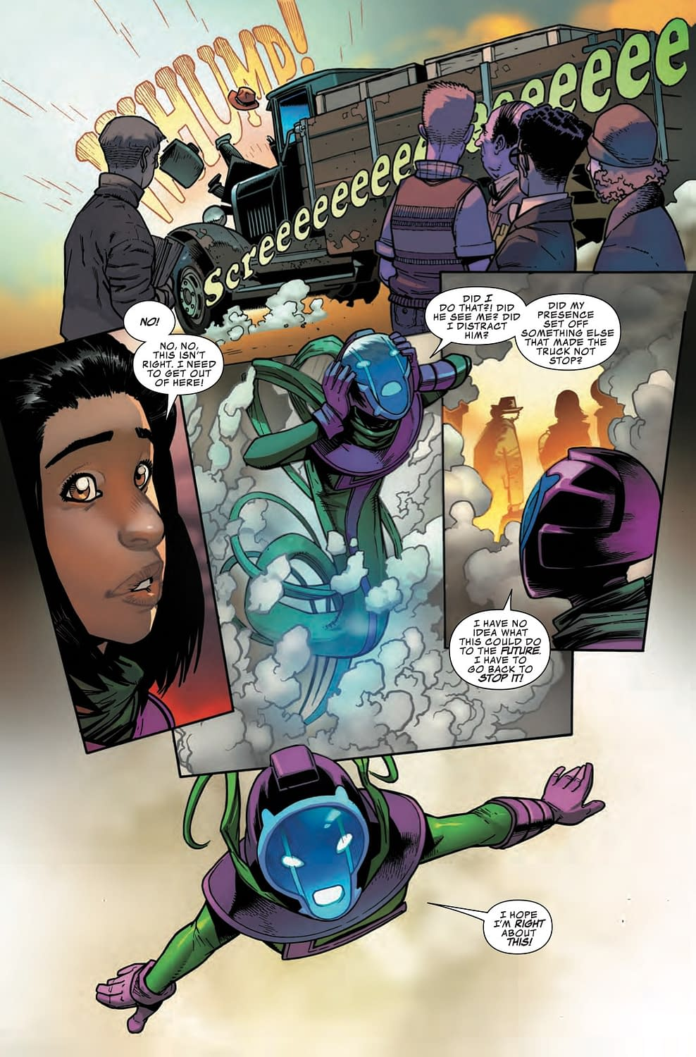 Kamala Kang Makes a Classic Time Travel Mistake in Next Week's Infinity Warps #2