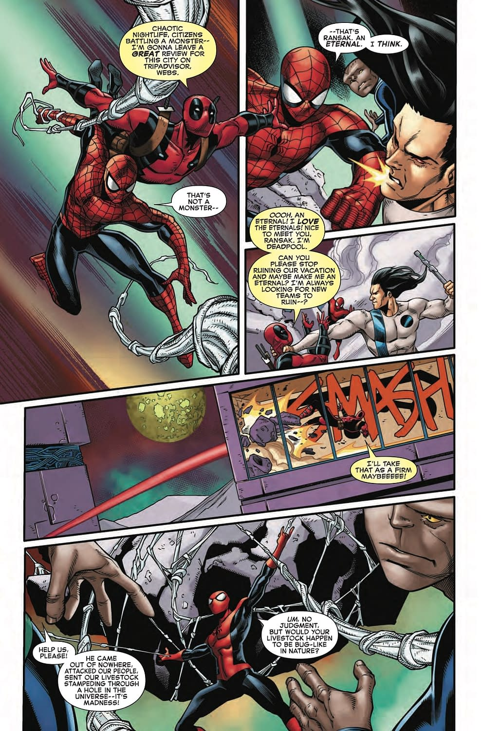 Deadpool Tries to Join an MCU Franchise in Next Week's Spider-Man/Deadpool #43