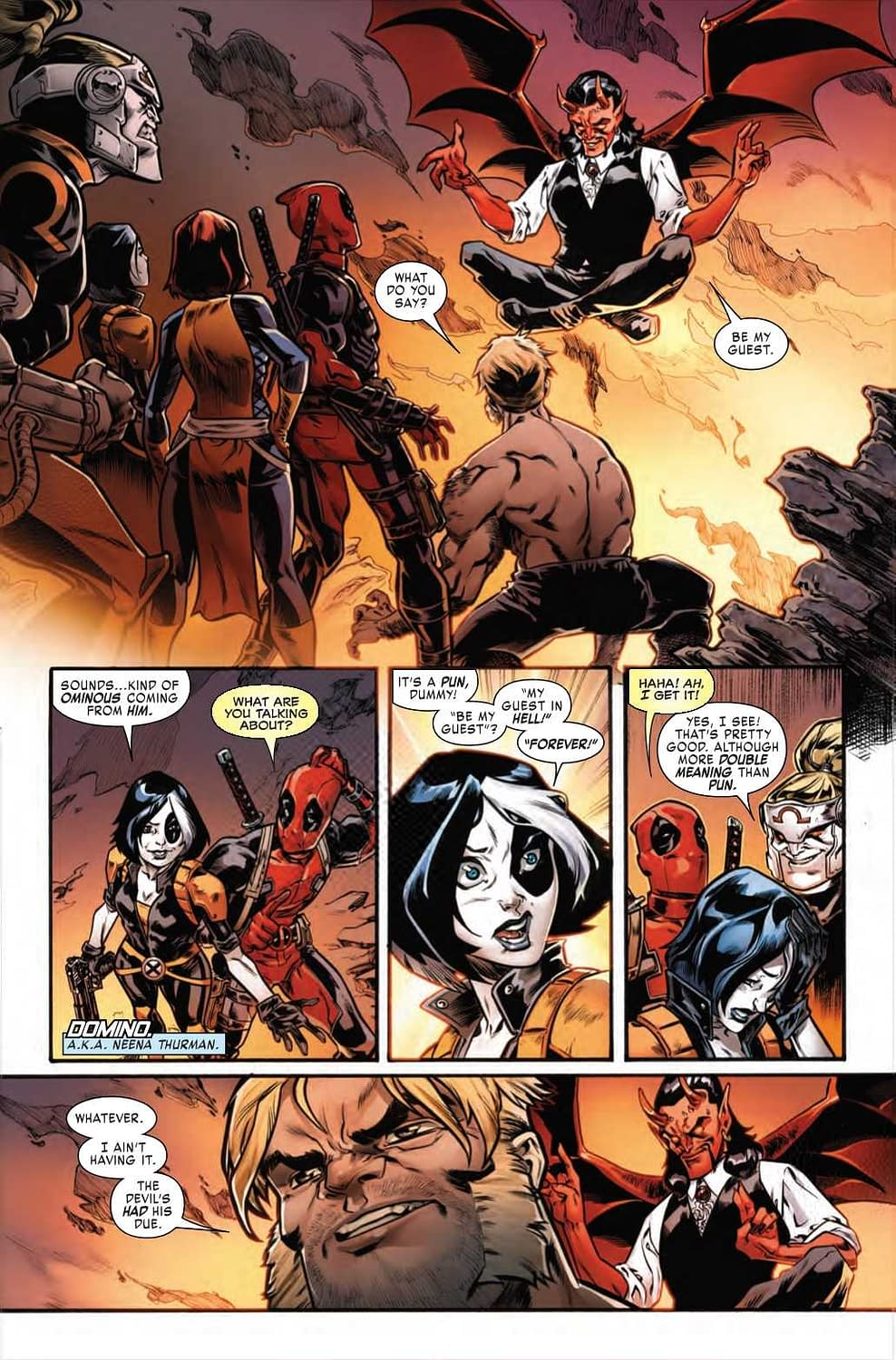 Domino Explains the Joke in Next Week's Weapon X #27