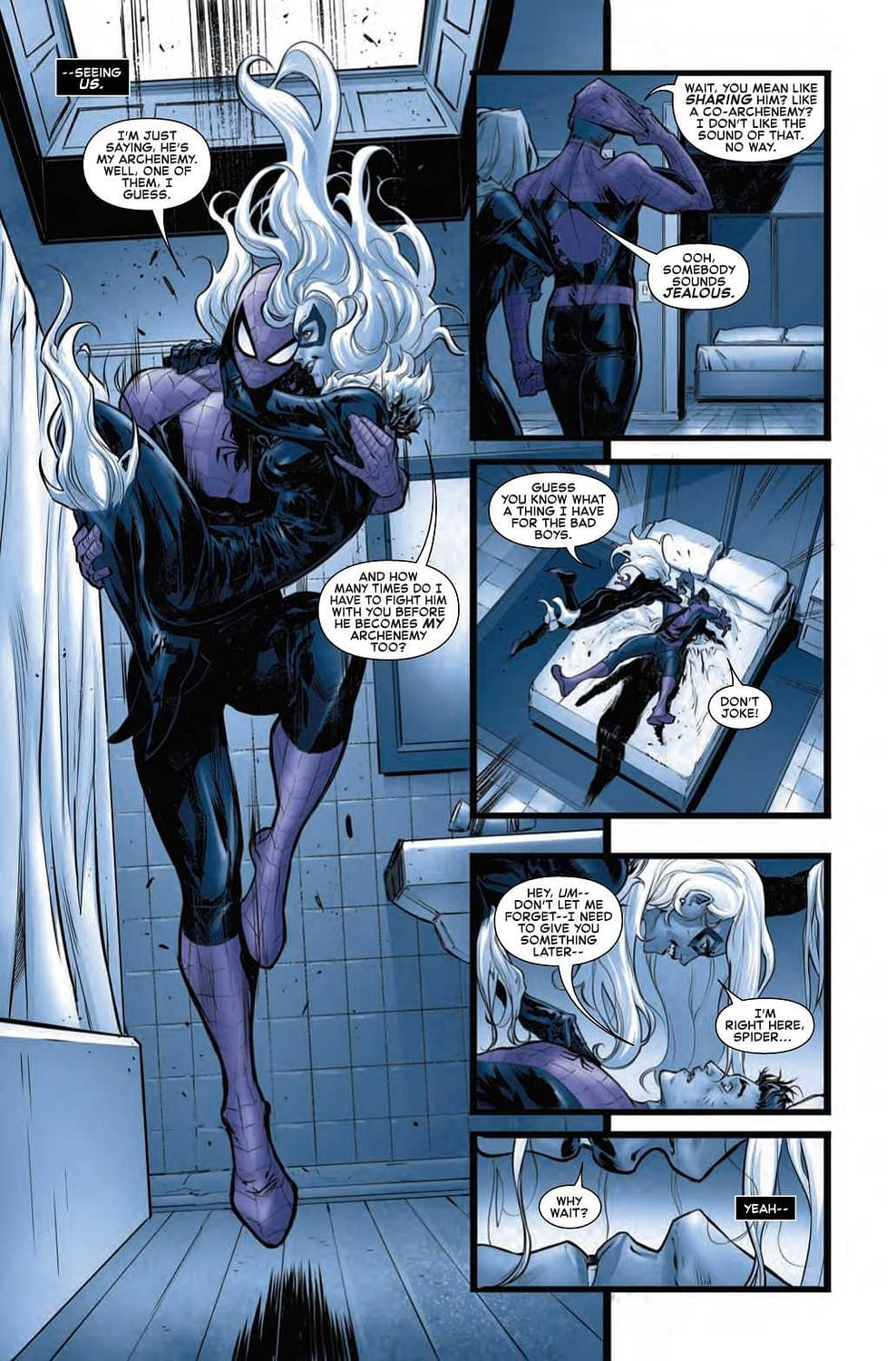 Black Cat Having Sex Dreams About Spider-Man in Next Week's Amazing Spider-Man #16.HU