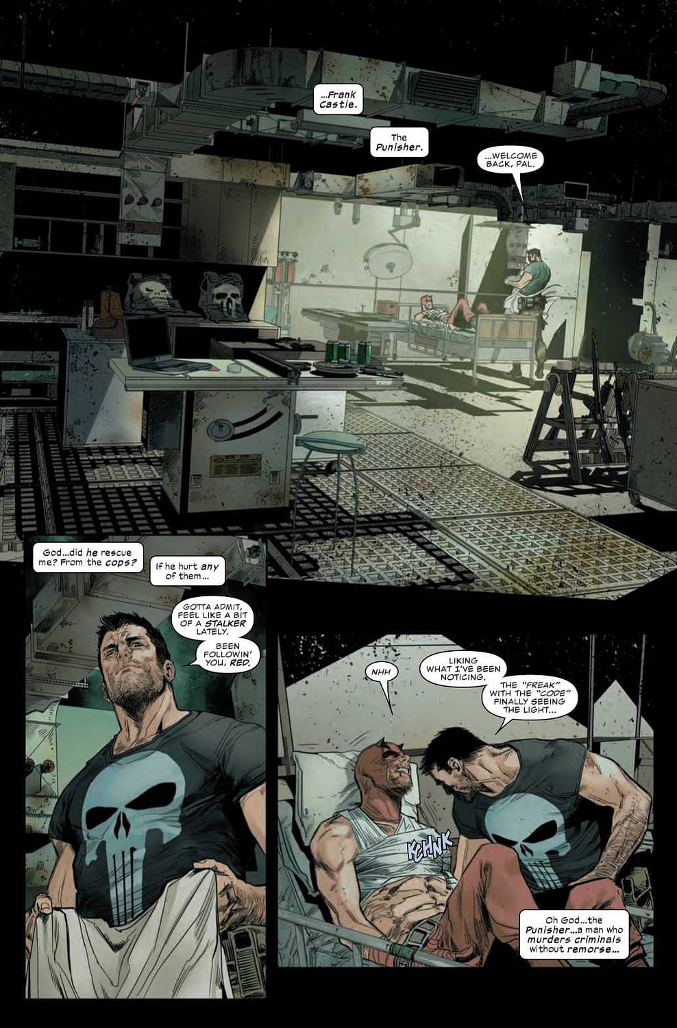 The Punisher Tells Daredevil Like it Is in Daredevil #4 Preview