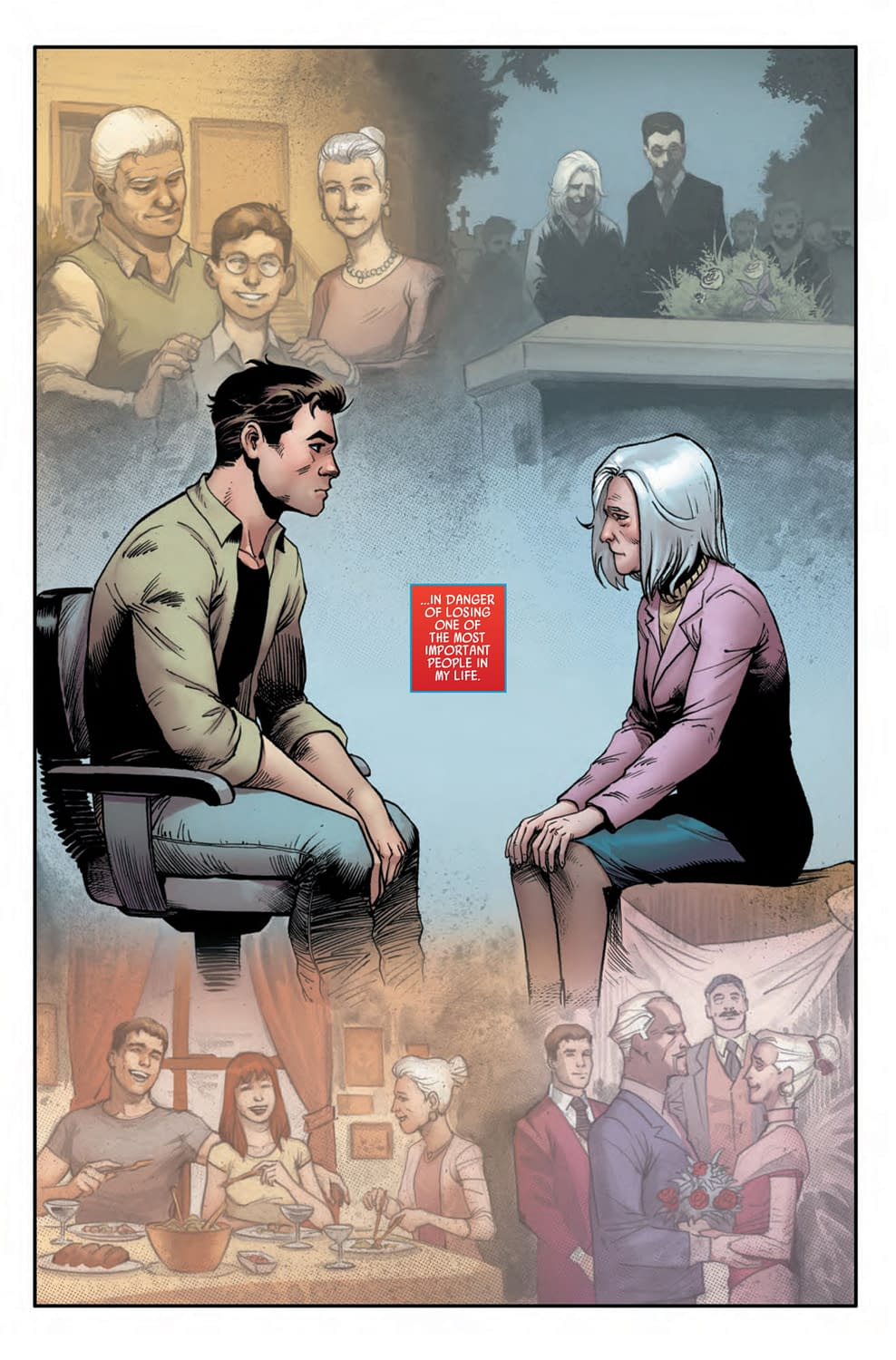 Spider-Man Too Busy to Help Aunt May with Her Chemo in Friendly Neighborhood Spider-Man #5