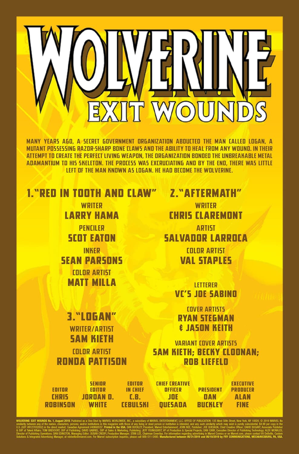 Weapon X Revisited in Wolverine: Exit Wounds #1