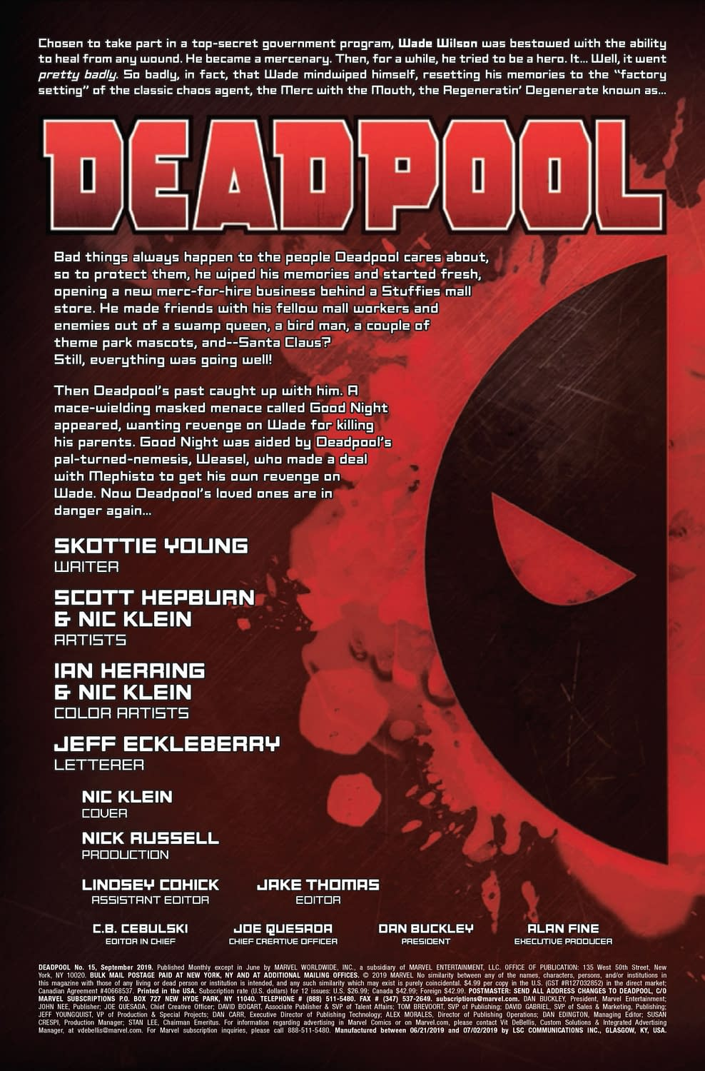 Deadpool #15: Who Will Kill Wade Wilson? [Preview]