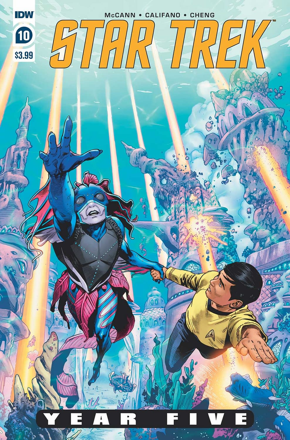 """REVIEW: Star Trek Year Five #10 -- """"The Plot Kind Of Pushes All The Dishes Off The Table"""""""