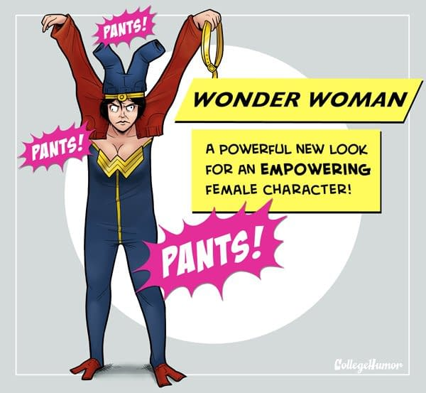 And Finally… Wonder Woman In Pants. Lots Of Them.
