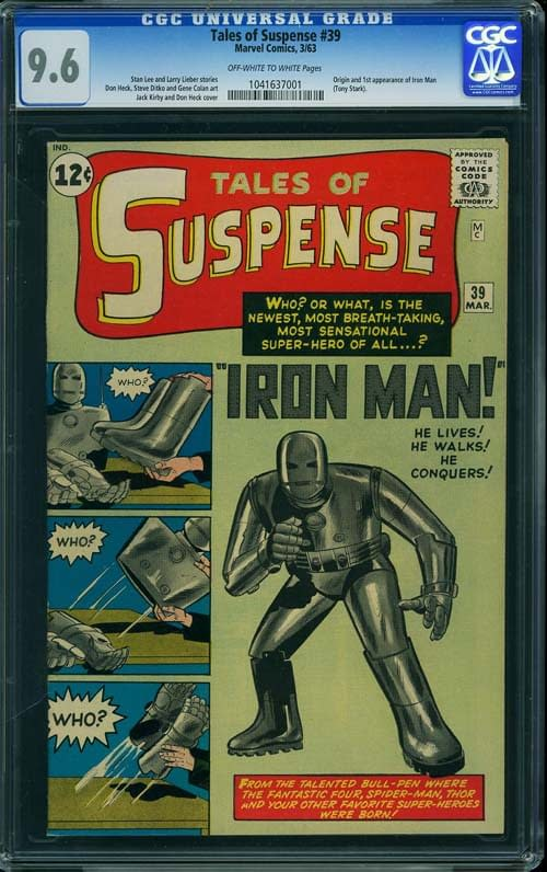 First Appearance of Iron Man In Tales of Suspense #39 Sells for Record $375,000