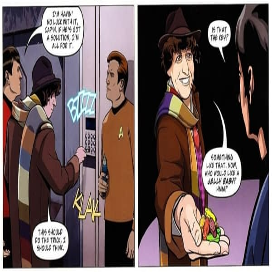 Yes Folks, Tom Baker's Doctor Who Fought Alongside Captain Kirk