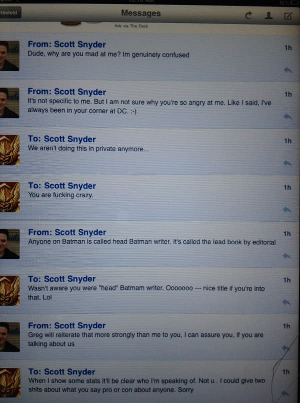 """Now It's Rob Liefeld Vs Scott Snyder – """"Get Over Yourself You Pretentious Prick"""""""