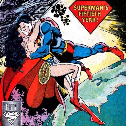 Superman kiss woman wonder The Many