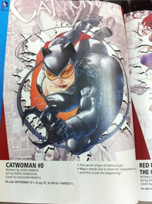 Guillem March Shows Off His Original Sketches For Catwoman #0 Cover