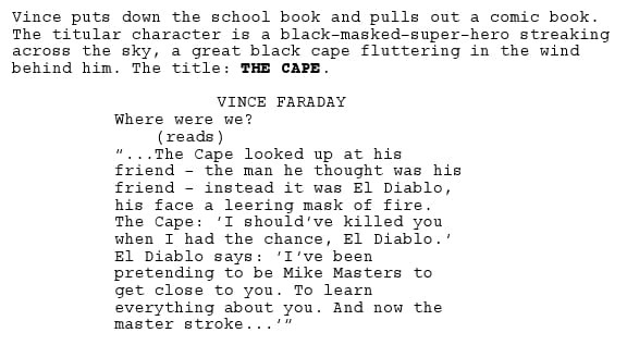 Exclusive Script Review- THE CAPE from NBC by Thomas Wheeler
