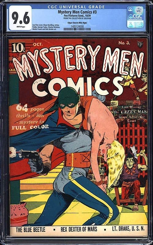 Mystery Men Comics #3 CGC 9.6, cover by Lou Fine