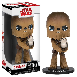 Funko The Last Jedi Wobblers Chewbacca with Porg