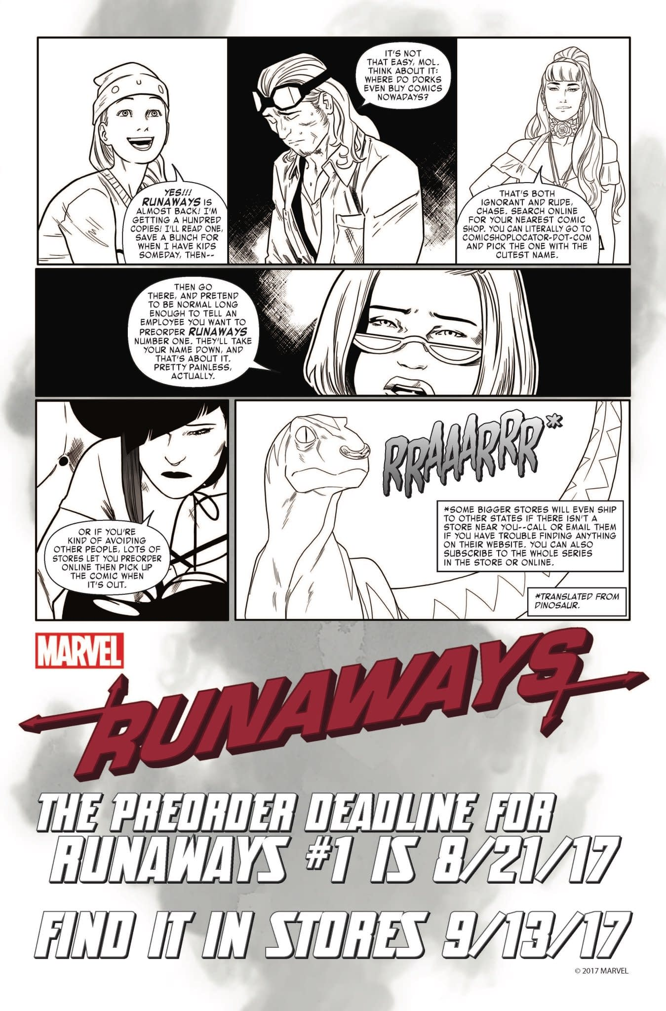 Marvel's Runaways Teach You How To Preorder Comics, Your Sacred Responsibility As A Comic Book Reader