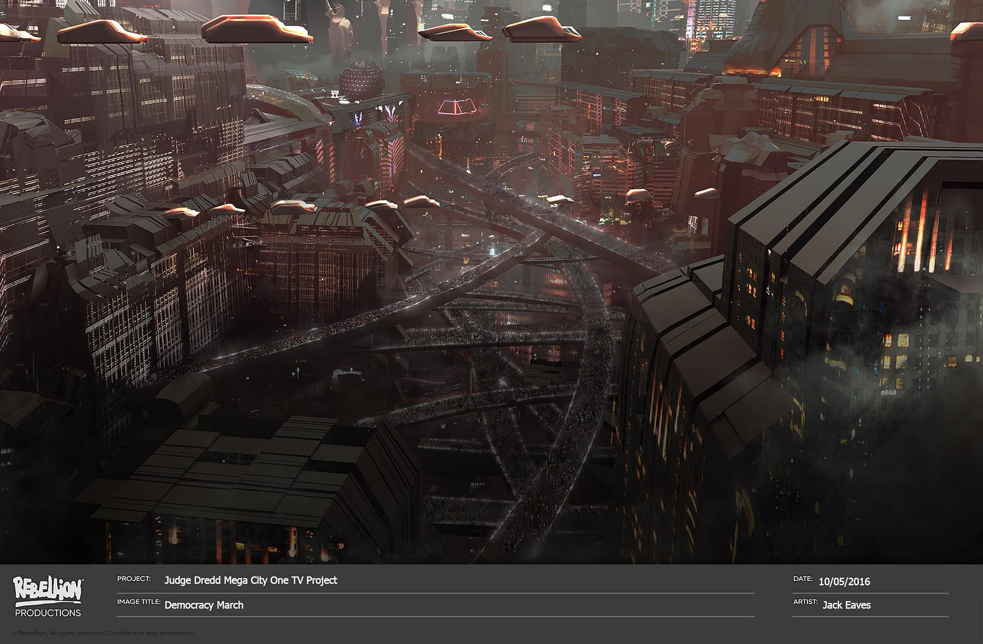 First Concept Art For Judge Dredd: Mega-City One