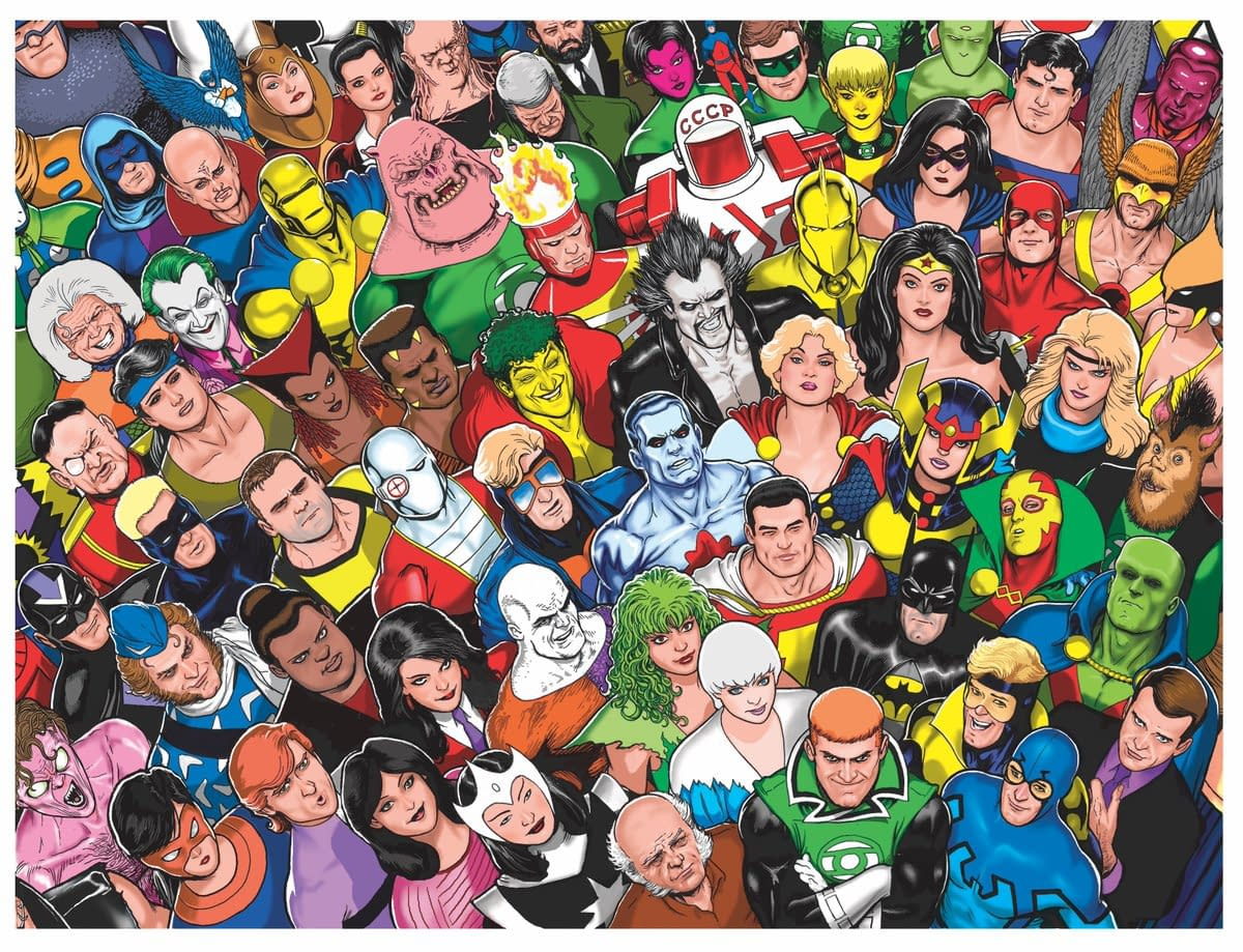 Kevin Maguire Draws The Justice League International For The JLI Omnibus Cover