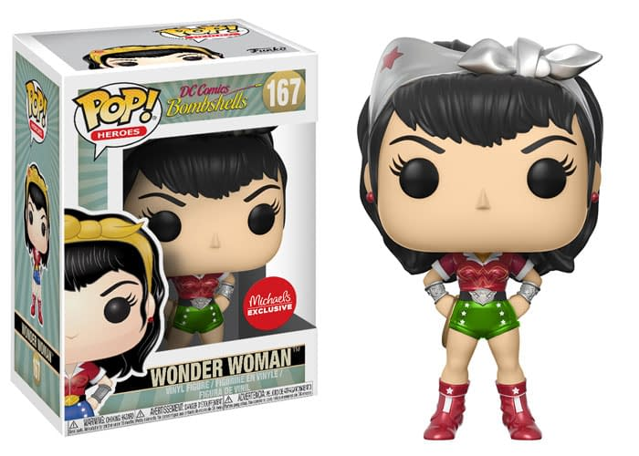 Funko DC Bombshells Wonder Woman Holiday Exclusive Pop