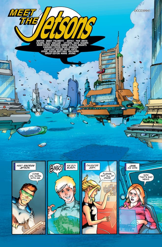 Meet The Jetsons In Palmiotti And Brito's Jetson's #1 Preview From DC Comics