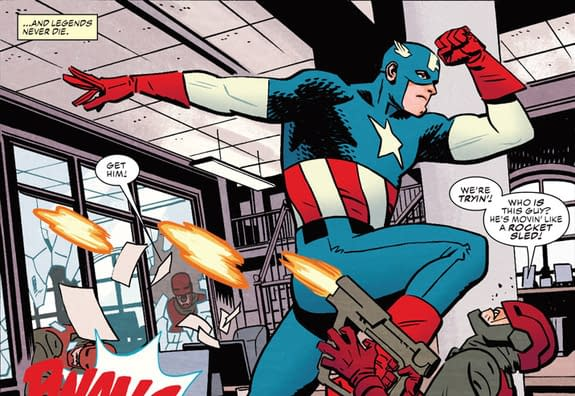 Captain America #695 art by Chris Samnee and Matthew Wilson