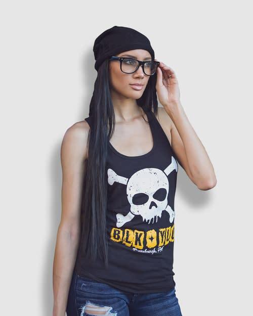 Marvel Comics Vs. Pittsburgh's BLKYLO Black & Yellow Apparel Over Skull Imagery