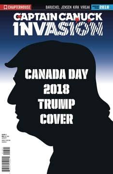 Trump Vs Trudeau in Captain Canuck: Invasion for Canada Day in July?