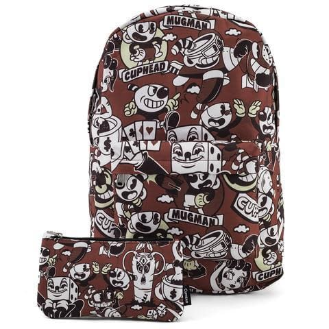 Funko Loungefly SDCC Cuphead Backpack and Pouch