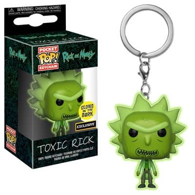 Funko Pop Keychain Rick and Morty Toxic Rick