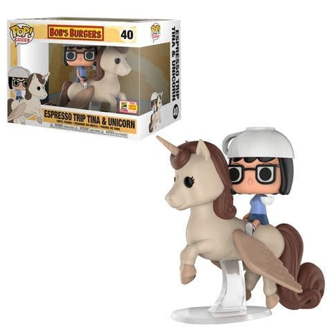 Funko SDCC Bobs Burgers Espresso trip Tina and Unicorn Pop