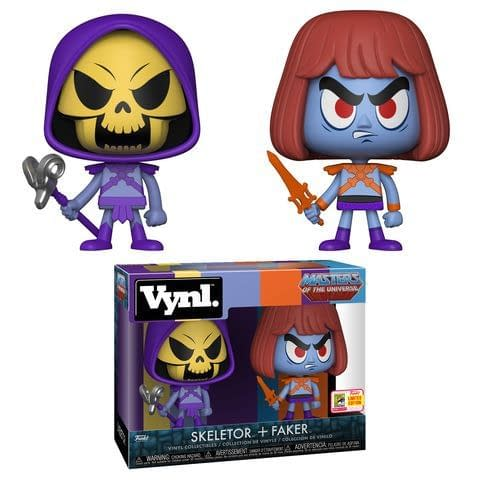 Funko SDCC Masters of the Universe Skeletor and Faker Vynl Two Pack