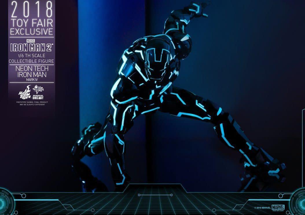 Hot Toys Neon Armor Tech Iron Man 3