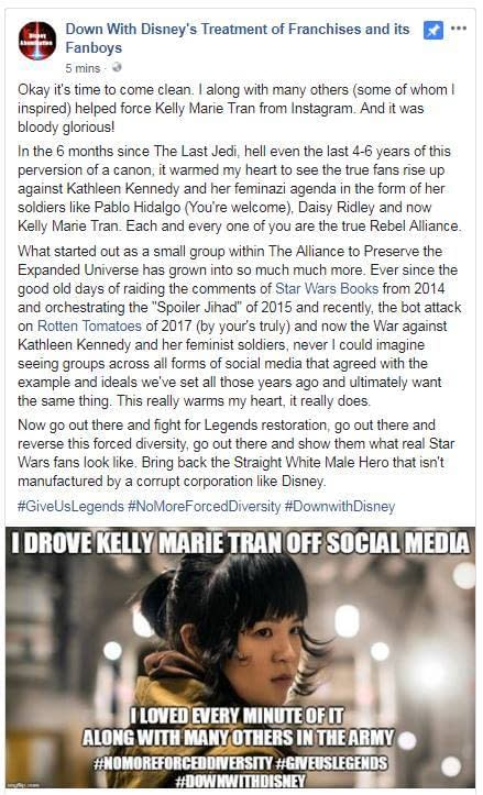 """Stephen Colbert Calls Out """"Hateful Fanboys"""" Over Harassment of Kelly Marie Tran"""