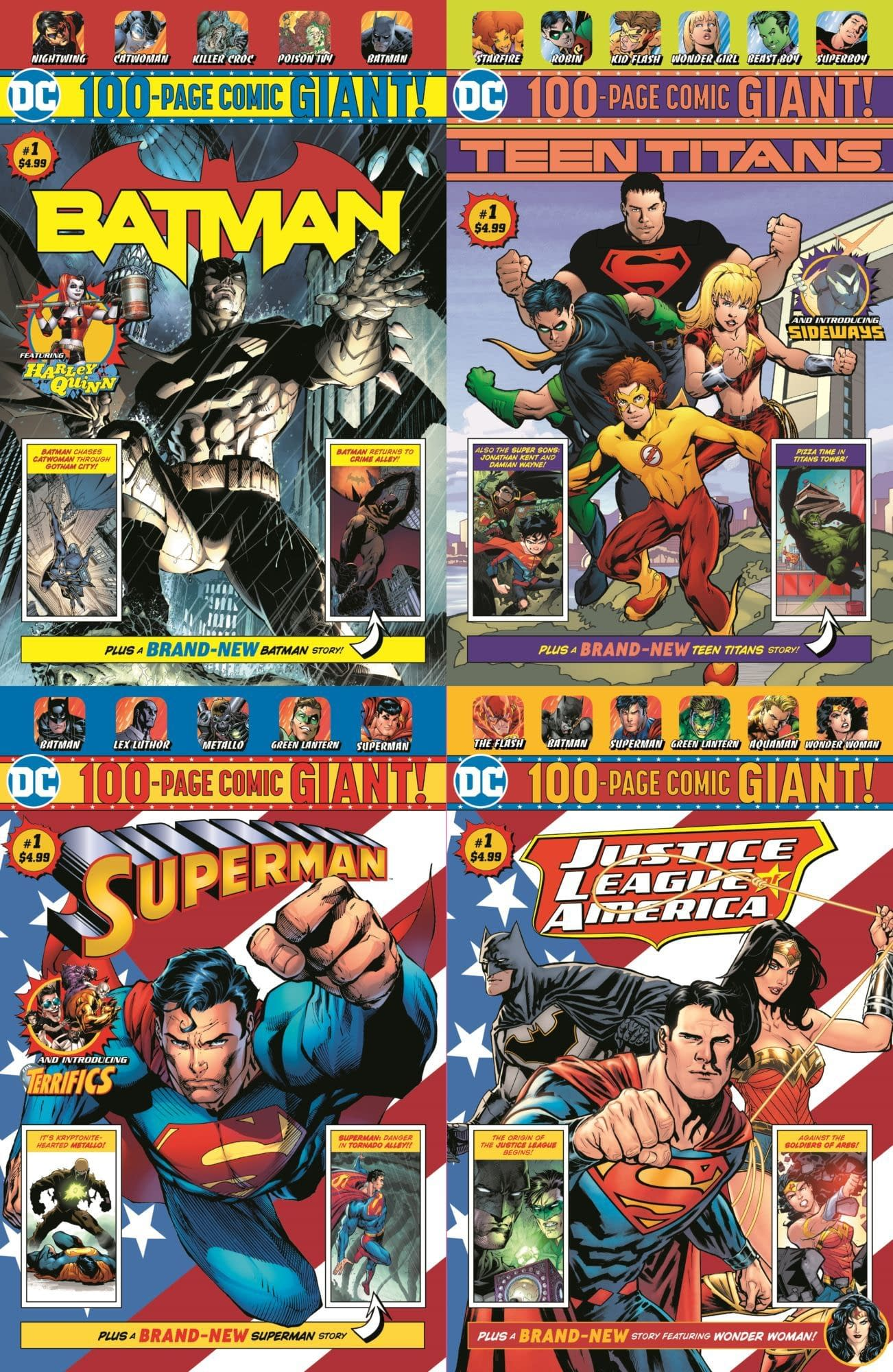 DC Replaces Walmart 100-Page Giants With Four-Packs of Comics.