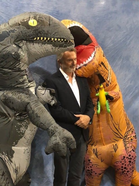 The Best Photo of Sam Neill and Dinosaurs Since 'Jurassic Park'