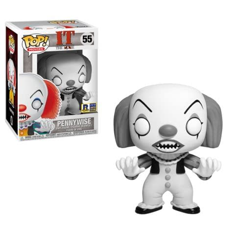 Funko Horror IT Pennywise Black and White Rhode Island Comic Con
