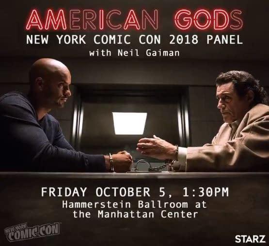 American Gods Season 2: Major Cast Member Returns, NYCC Panel Confirmed