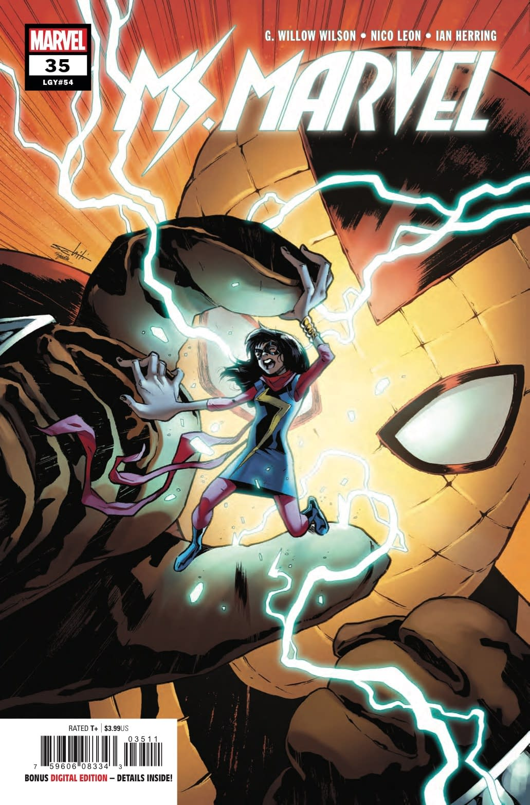 Kamala Khan's Ebiggening Powers Explained in Preview of Ms. Marvel #35