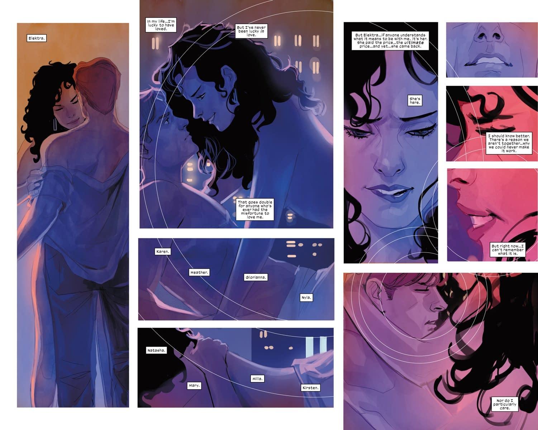 Elektra and Daredevil, Sitting in a Tree, S-E-X-I-N-G… in Daredevil #610 Preview