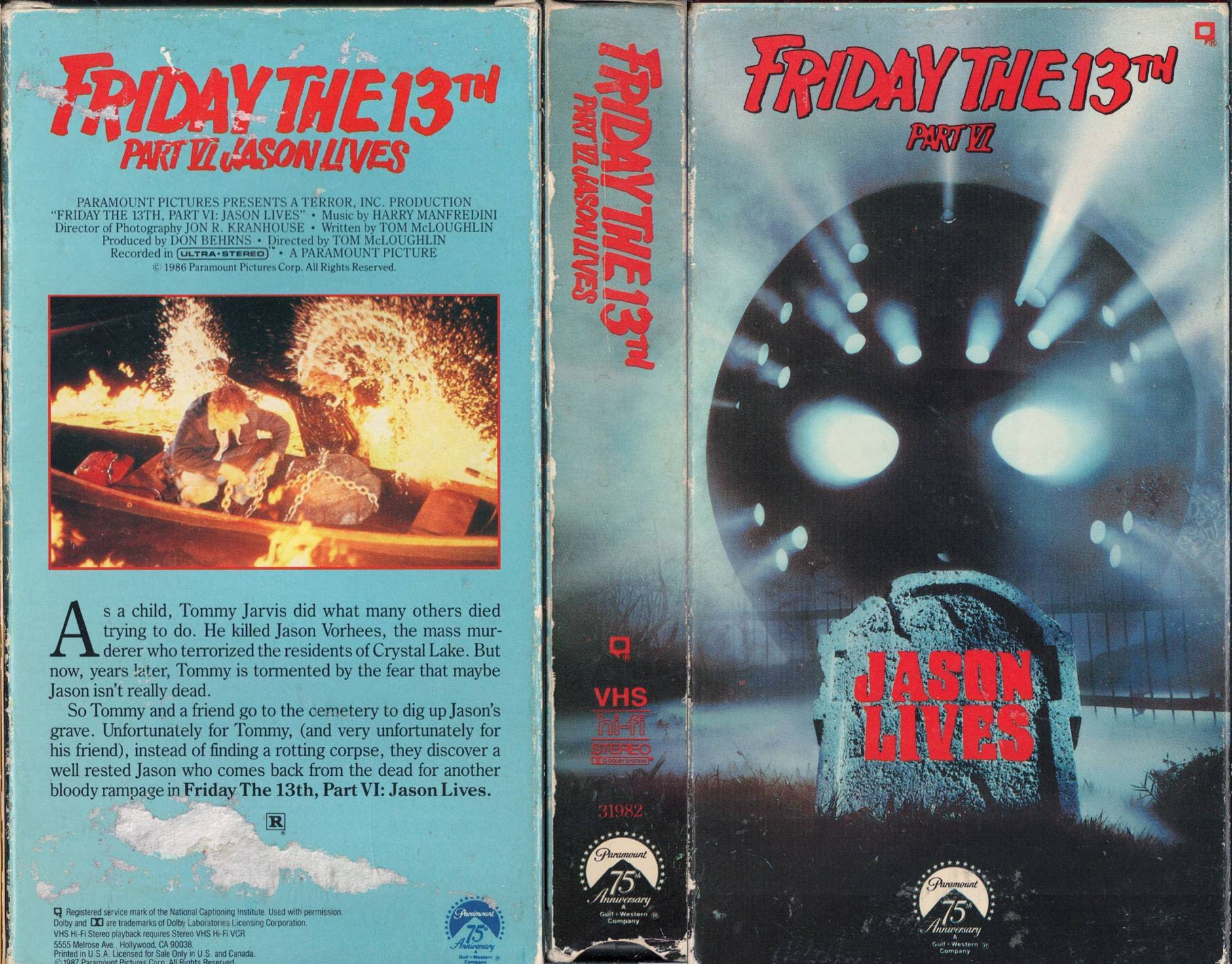 Friday the 13th Part 6 VHS Cover