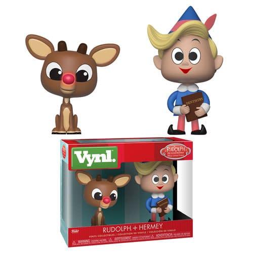 Funko Rudolph and Hermey Vynl Set