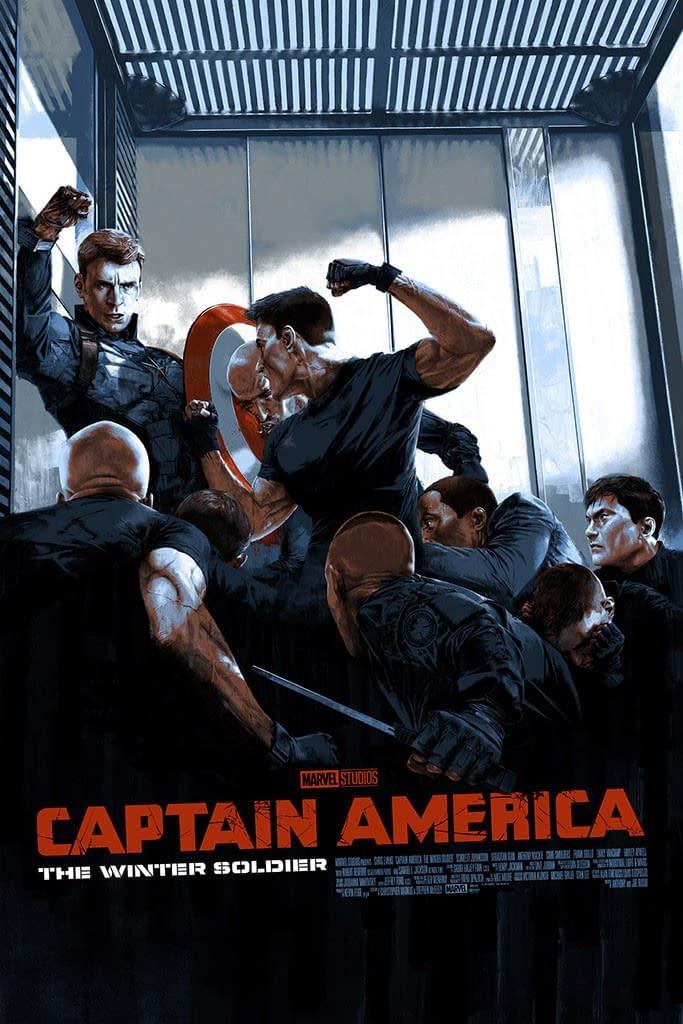 Mondo Marvel Studios 10th Anniversary CAWS Poster 2