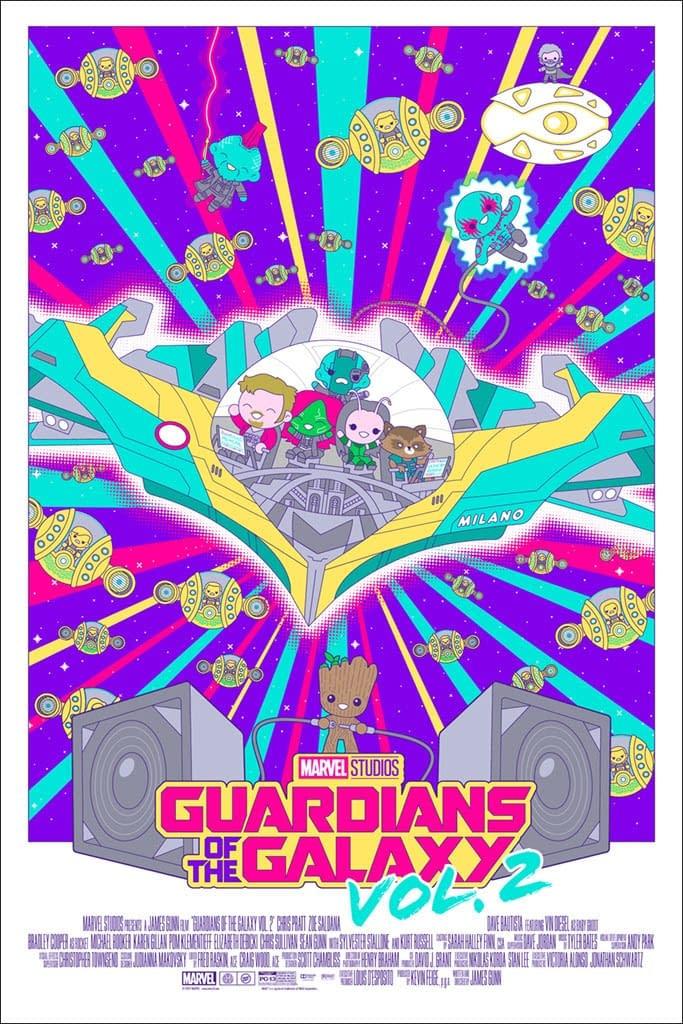 Mondo Marvel Studios 10th Anniversay GOTG Poster