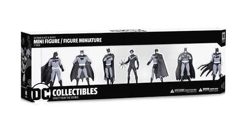 DC Collectibles Black and White Mini PVC 7 Pack 1
