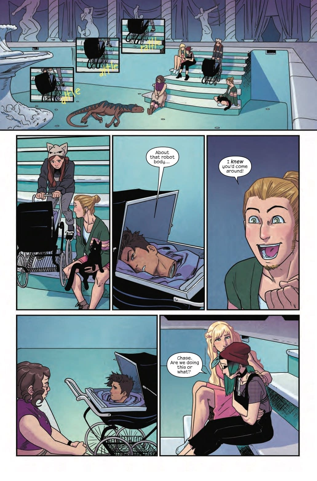 The World's Worst Pool Party in Next Week's Runaways #15