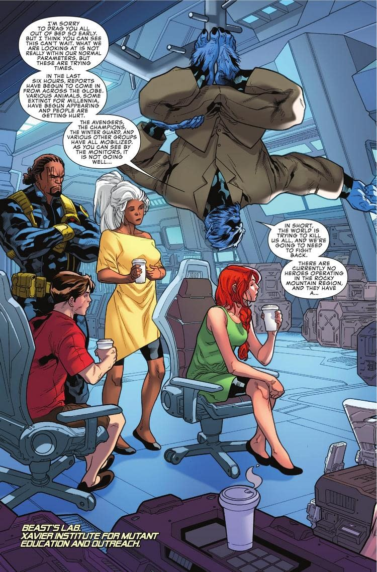 Beast is Too Busy to Save the World in Next Week's Uncanny X-Men #2