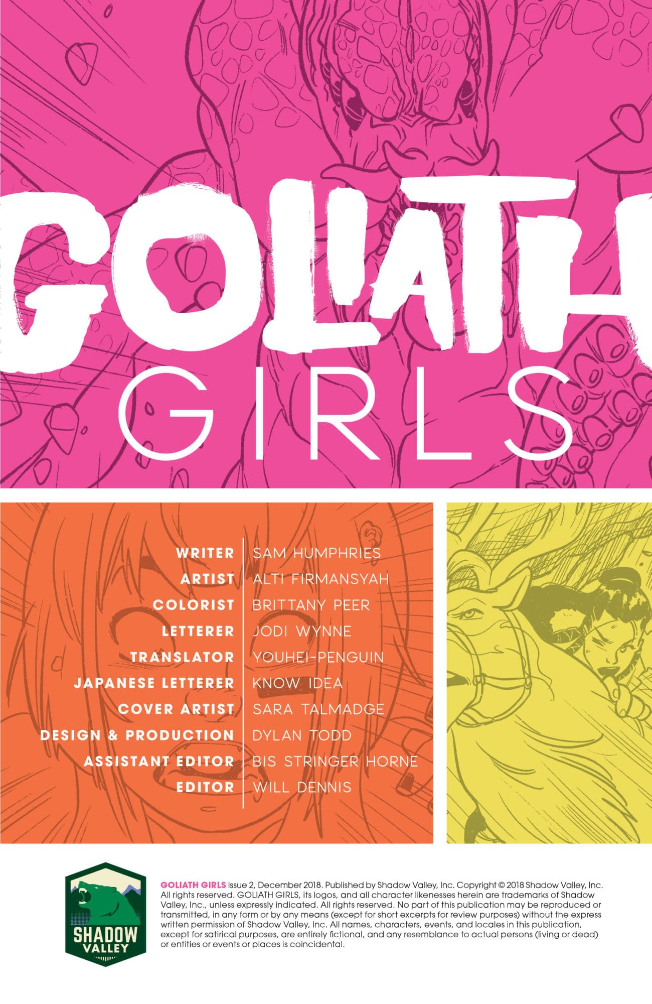 ComiXology Goes All in on Goliath Girls with Special Edition, Sam Humphries Sale