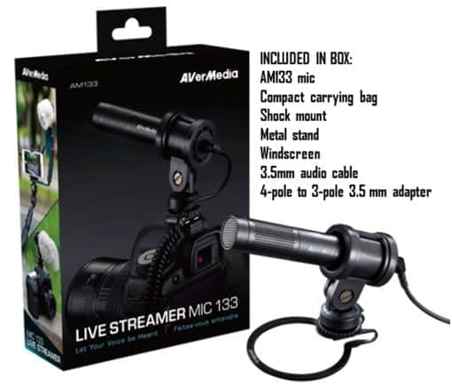 AVerMedia Launches a New Live Streamer Microphone With the MIC 133