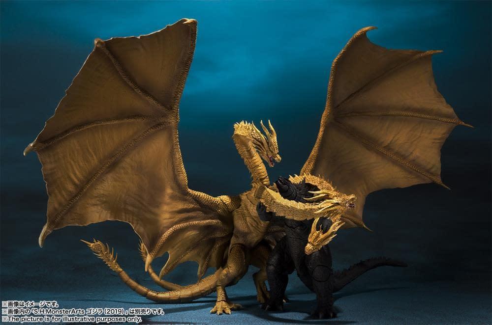 SH MonsterArts Godzilla King Ghidorah 6
