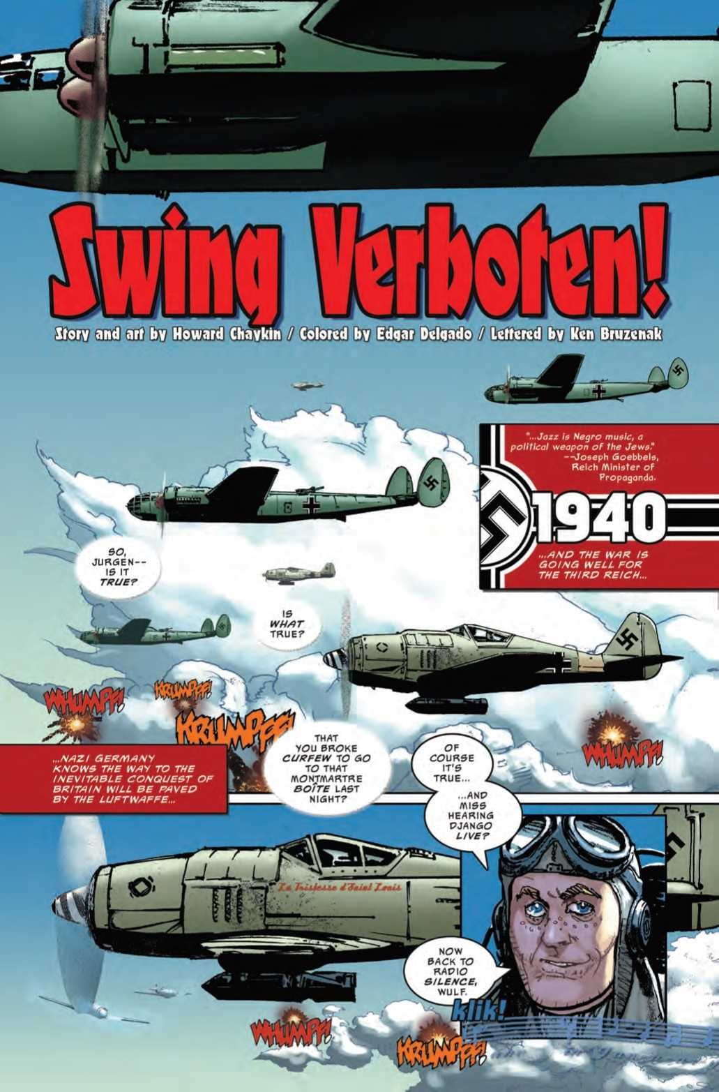 Will You Sympathize with a Nazi Jazz Enthusiast in Next Week's War is Hell #1?