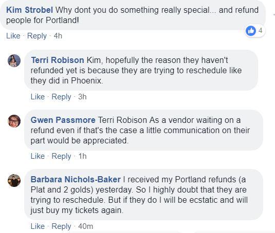 Phoenix Walker Stalker Rescheduled to September, Fan Fest Portland Refunds Begin to be Issued